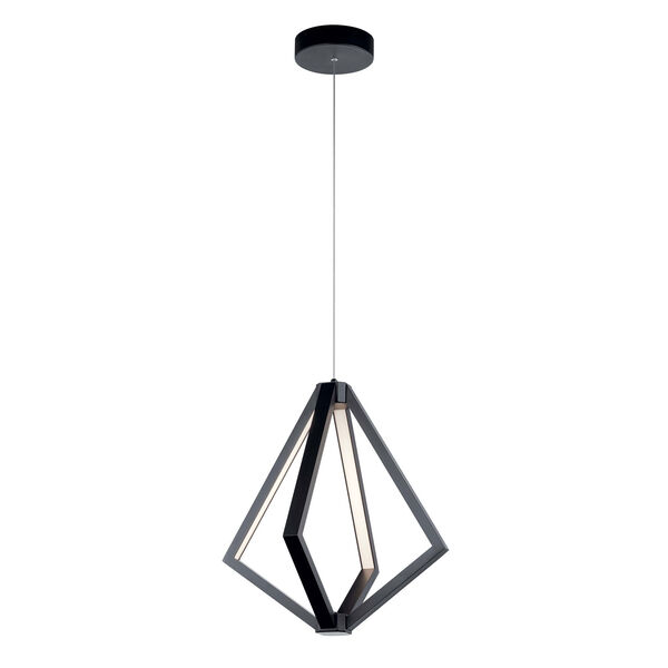 Everest Matte Black Four-Light LED Pendant, image 1
