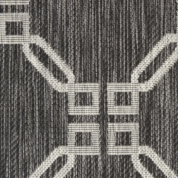Garden Party Charcoal and Gray 7 Ft. x 10 Ft. Rectangle Indoor/Outdoor Area Rug, image 6