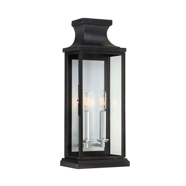 Whittier Black Two-Light Wall Sconce, image 1