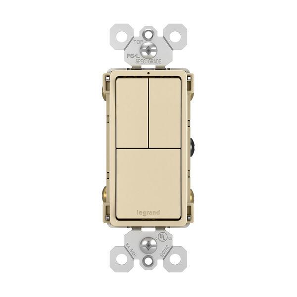 Ivory Two Single Pole Switches and Single Pole 3-Way Switch, image 1