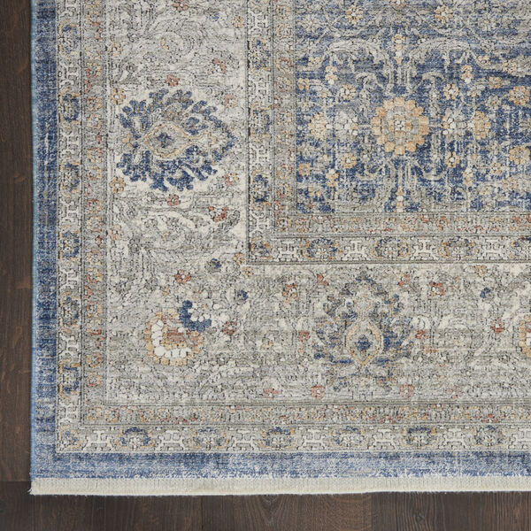 Starry Nights Light Blue Rectangular: 5 Ft. 3 In. x 7 Ft. 3 In. Area Rug, image 4