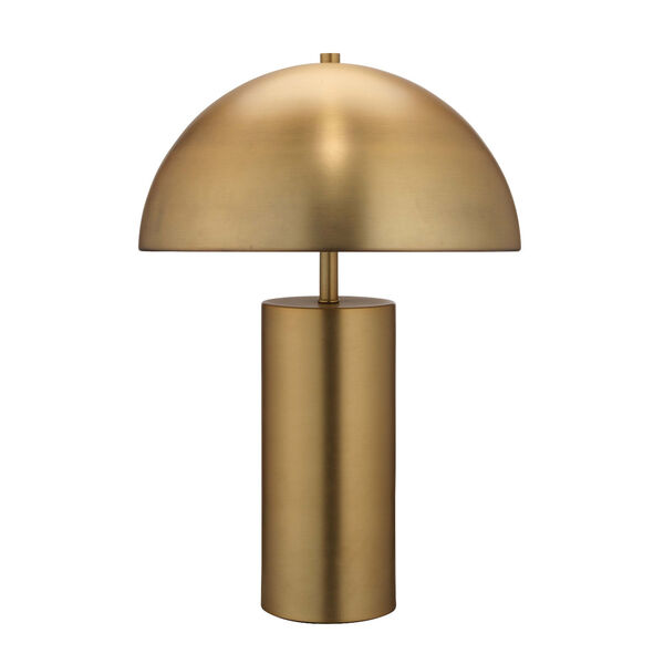 Cora Antique Brass Two-Light Table Lamp, image 1