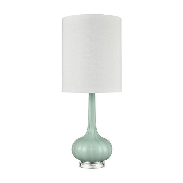 Marlais Seascape Green and Brushed Steel One-Light Table Lamp, image 2