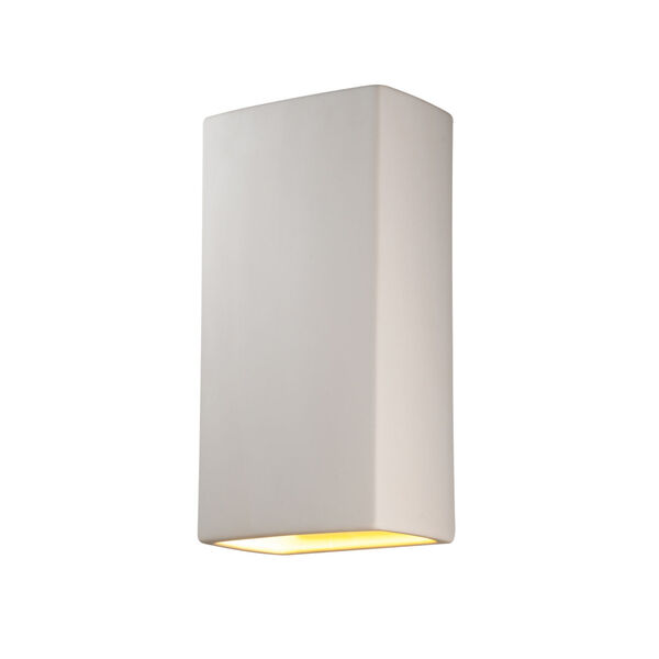 Ambiance Bisque 11-Inch Two-Light Closed Top and Bottom GU24 LED Rectangle Outdoor Wall Sconce, image 1