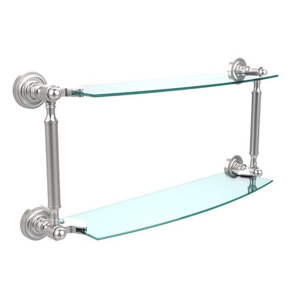 Satin Chrome 18-Inch Double Shelf , image 1
