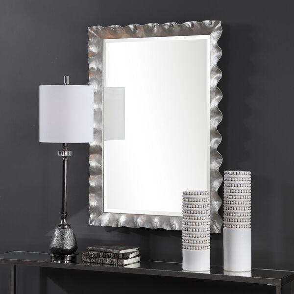Haya Silver Leaf Vanity Mirror, image 1