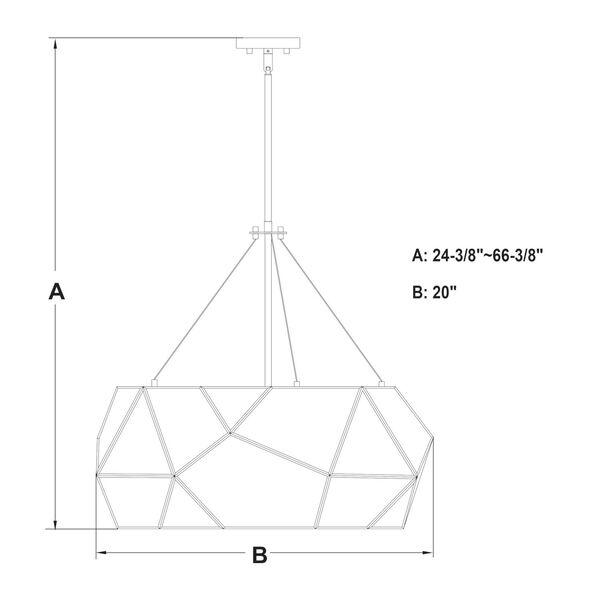Euclid Aged Brass Three-Light Pendant, image 5