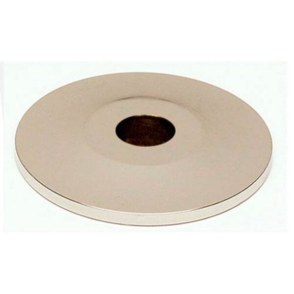 Polished Nickel 3/4-Inch Backplate, image 1