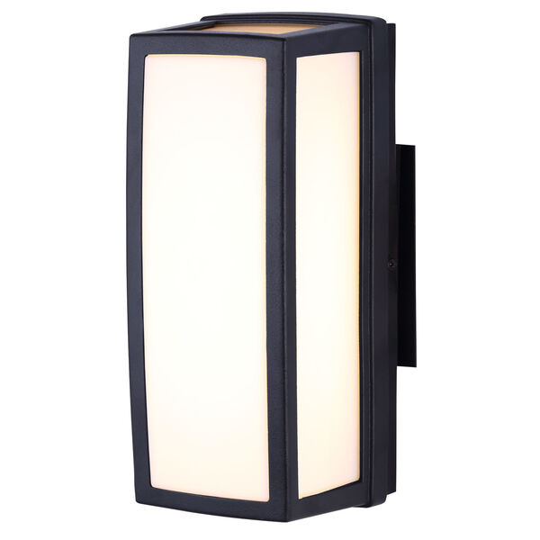 Black Four-Inch LED Outdoor Wall Sconce, image 1