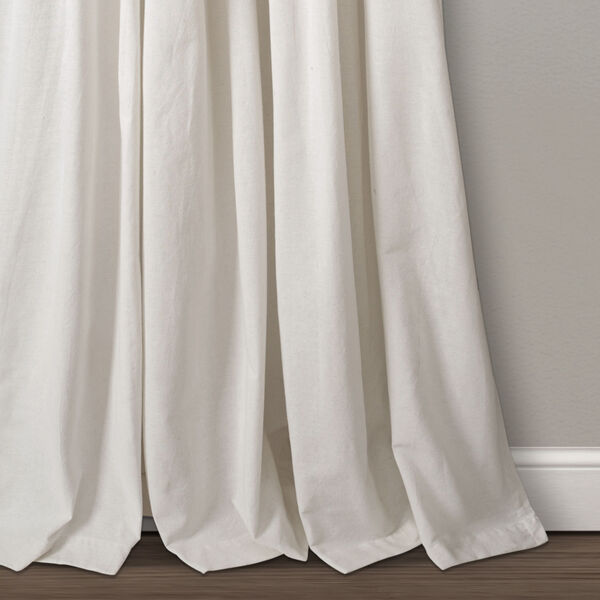 Linen Button Beige and Off White 40 x 108 In. Single Window Curtain Panel, image 4