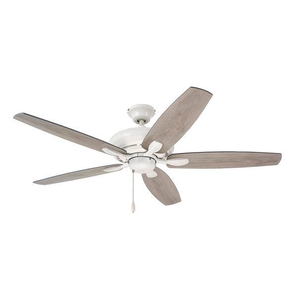 Pro Series Satin White Three Light Ceiling Fan, image 1