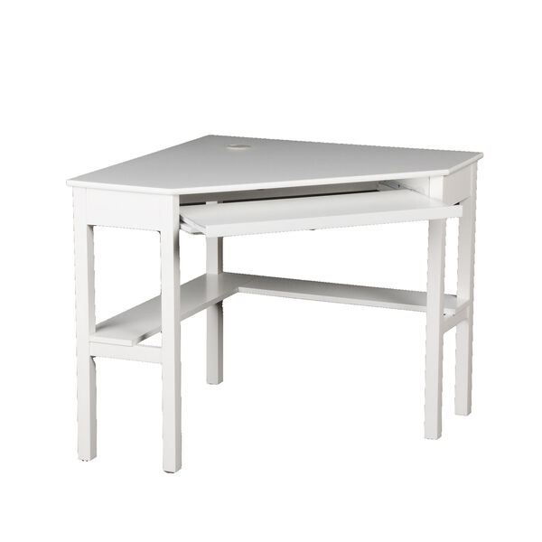White Corner Computer Desk, image 6