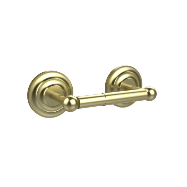 Satin Brass Double Post Toilet Paper Holder, image 1