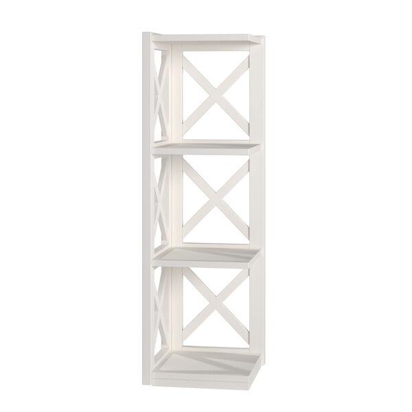 Tanya White X-Frame Three-Shelve Bookcase, image 2