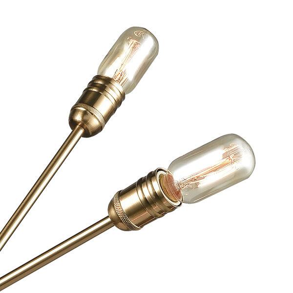 Delphine Satin Brass 10-Light Chandelier, image 3