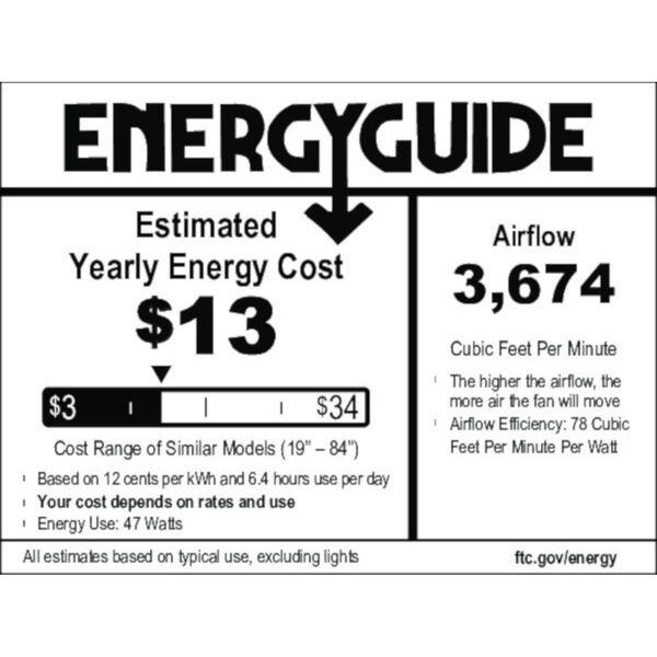 Starklake Quartz Grey 52-Inch Outdoor LED Ceiling Fan, image 2