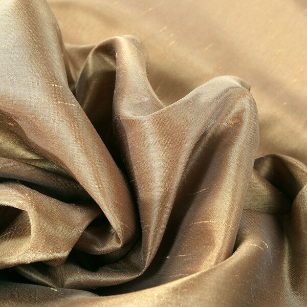 Flax Gold Vintage Textured Faux Dupioni Silk Single Panel Curtain, 50 X 96, image 8
