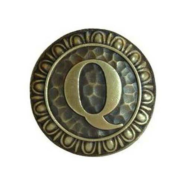 Antique Brass 'Q Knob , image 1