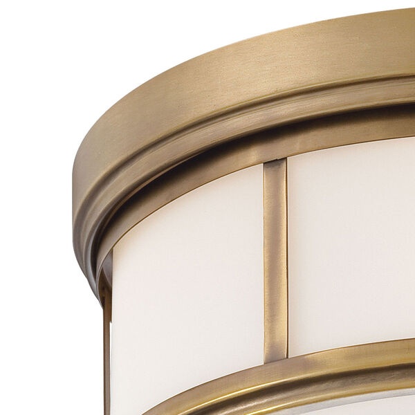 Harbour Point Liberty Gold Two-Light Flush Mount, image 3