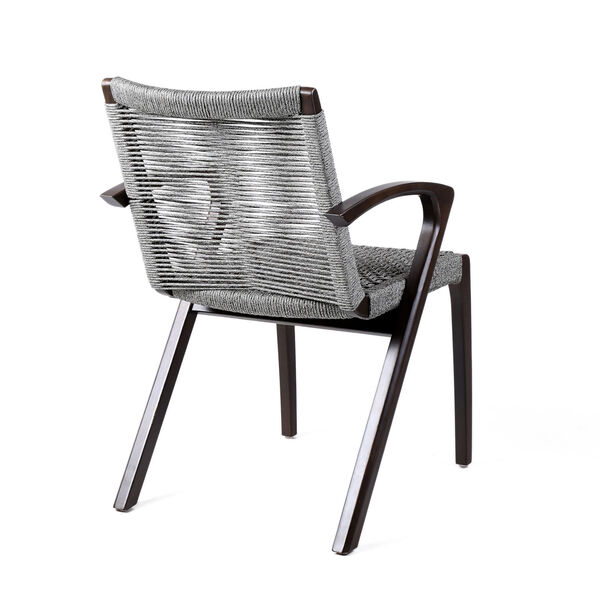 Brielle Dark Eucalyptus Outdoor Dining Chair, Set of Two, image 4