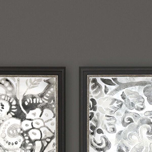 Black and White Stone Tile Framed Art, Set of 4, image 3