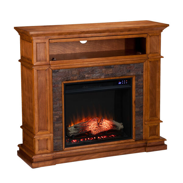 Belleview Sienna Electric Fireplace with Faux Stone, image 5