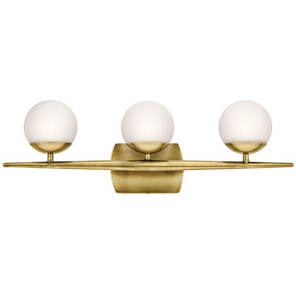 Jasper Natural Brass Three-Light Bath Sconce, image 2