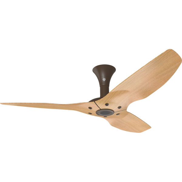 Haiku Oil Rubbed Bronze 52-Inch Low Profile Outdoor Ceiling Fan with Caramel Bamboo Blades, image 1