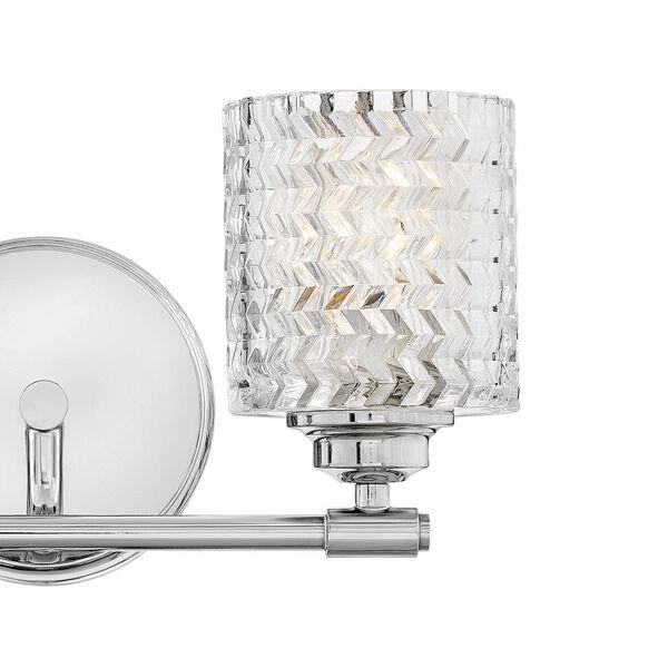 Elle Chrome Two-Light Bath Vanity, image 2