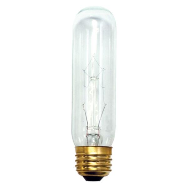 Clear Incandescent T10 Standard Base Warm White 480 Lumens Light Bulb, image 1