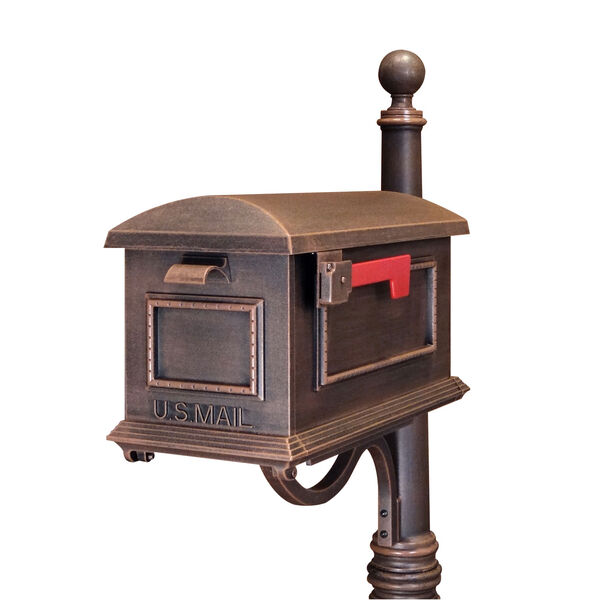 Traditional Copper Curbside Mailbox, image 1