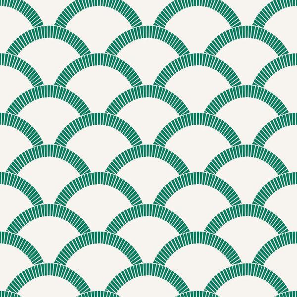 Mosaic Scallop Emerald 28 Sq. Ft. Peel and Stick Wallpaper, image 2