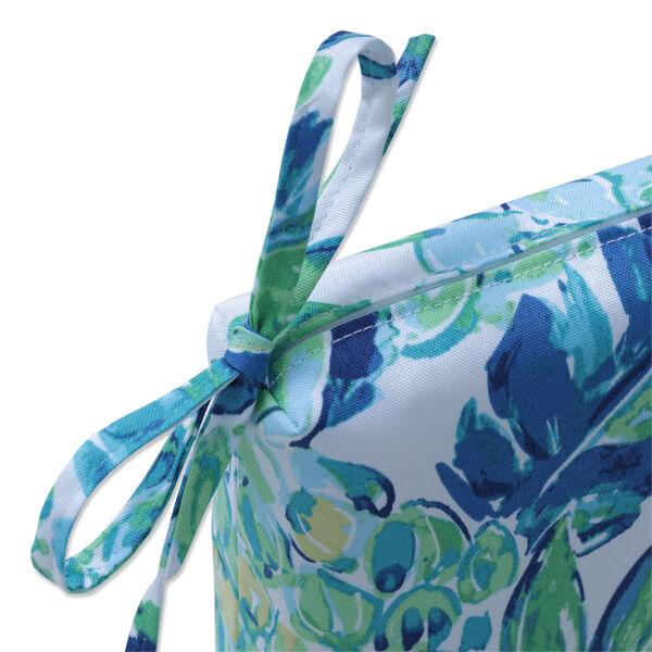 Vida Blue Green White Bench Cushion, image 2