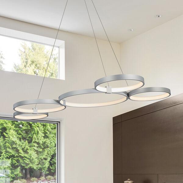 Capella Silver 31-Inch LED Adjustable Chandelier, image 1