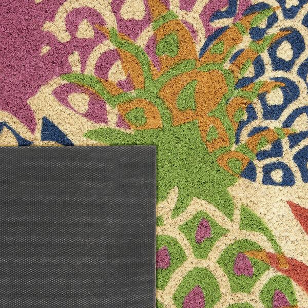 Wav17 Greetings Multicolor Rectangle Door Mat, image 3