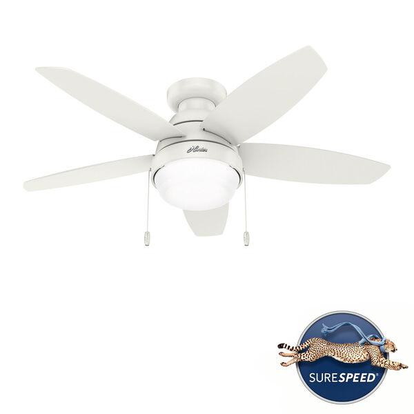 Lilliana Fresh White 44-Inch Two-Light LED Ceiling Fan, image 1