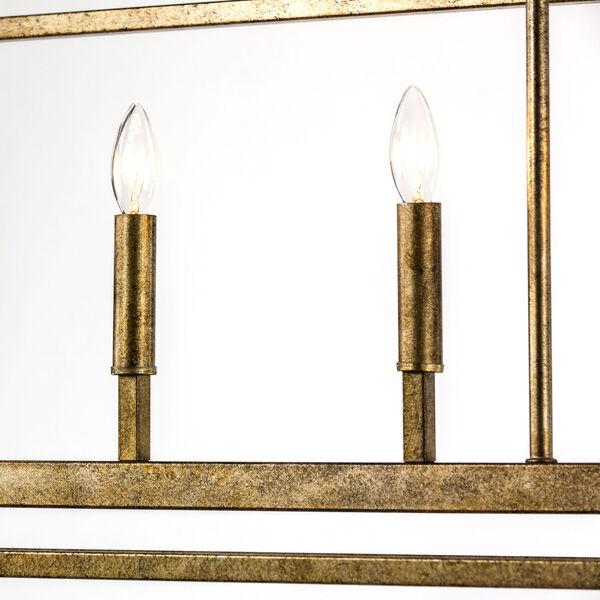 Kenwood Vintage Gold Five-Light Linear Pendant, image 8