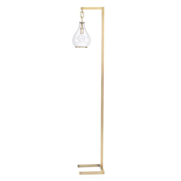 Tear Soft Antique Brass One-Light Floor Lamp, image 1