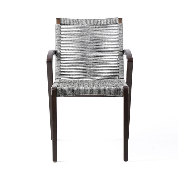 Brielle Dark Eucalyptus Outdoor Dining Chair, Set of Two, image 3