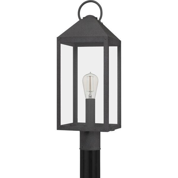 Thorpe Mottled Black One-Light Outdoor Post Mount, image 2