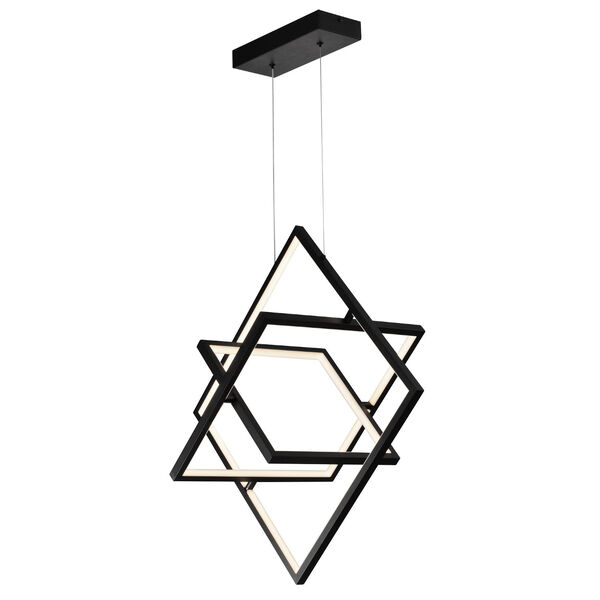 Graymar Black 11-Inch Three-Light LED Pendant, image 3