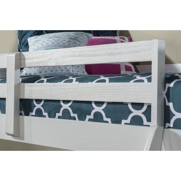 Highlands White Twin Loft Bed With Desk, image 3