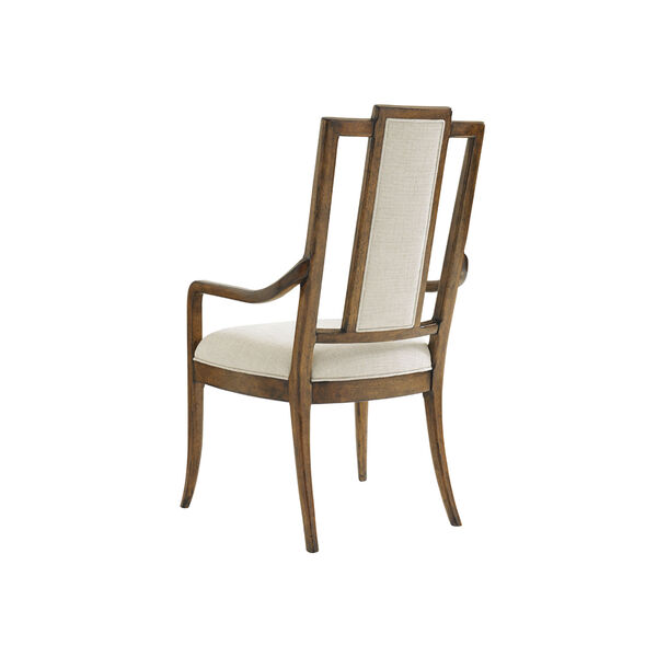 Bali Hai Brown and Ivory St. Barts Splat Back Arm Chair, image 3