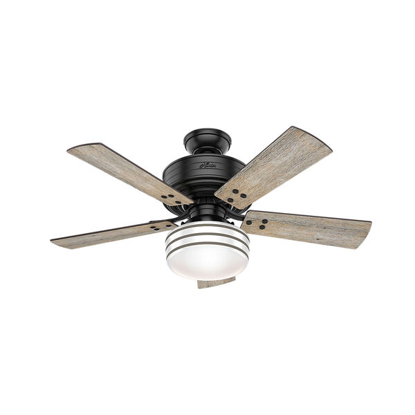 Cedar Key Matte Black 44-Inch One-Light LED Adjustable Ceiling Fan, image 1