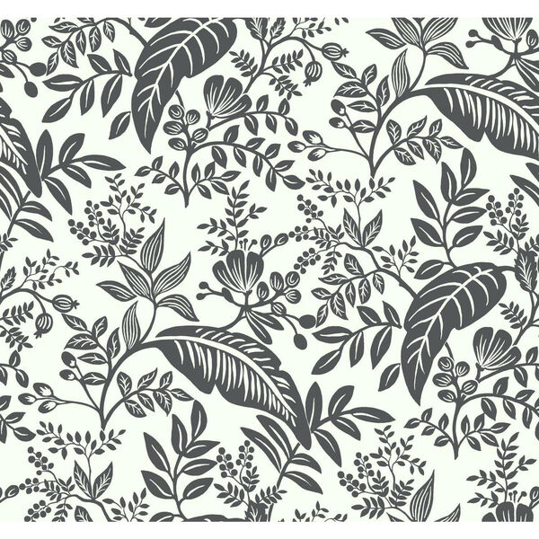Rifle Paper Co. Black and White Canopy Wallpaper, image 2