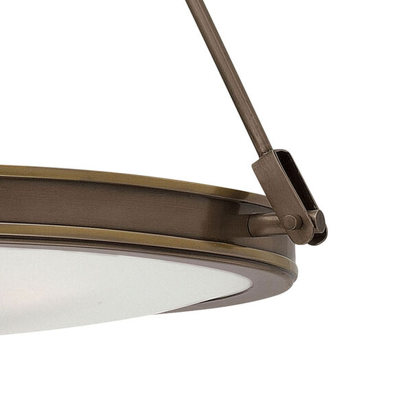 Collier Light Oiled Bronze 22-Inch Four-Light Inverted Pendant, image 2