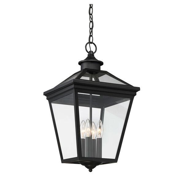 Ellijay Black Four-Light Outdoor Pendant, image 3