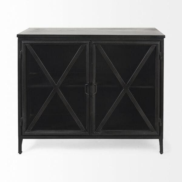 Poppy III Black Cabinet with Glass Door, image 2