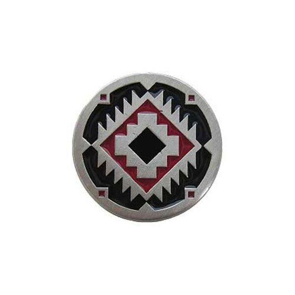 Red and Black Pewter Southwest Treasure Knob, image 1