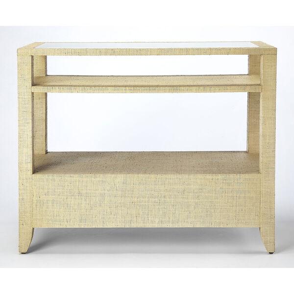 Loft Amelle Cream Raffia Console Table, image 5